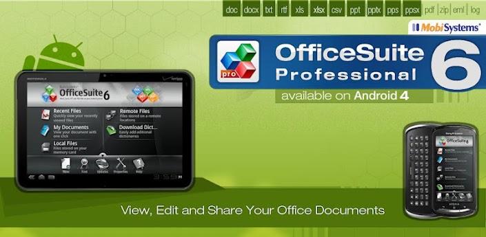 Gestiona tus negocios desde tu smartphone con OfficeSuite 6